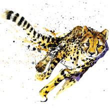 Cheetah Watercolor  Illustrati...