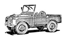 Vintage Off Road Vehicle Illus...