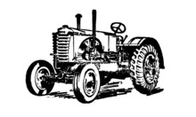 Vintage Retro Tractor Farming ...