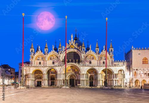 Fotografie, Obraz  Saint Marks Basilica, Cathedral, Church Statues Mosaics Venice Italy