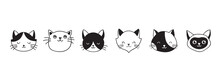 Cats, Collection Of Vector Ico...