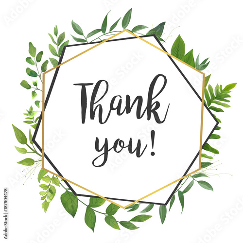 Image result for thank you greenery clipart