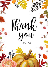 Vector Thank You Greeting Card...