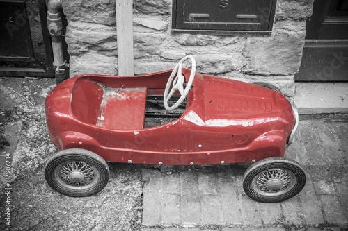 Poster Retro Vintage toy car