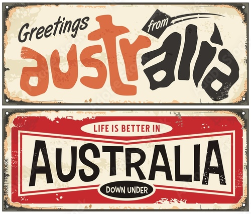 greetings from australia retro sign template life is better in