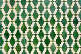 Marokańskie płytki z tradycyjnymi arabskimi wzorami, wzory płytek ceramicznych jako tekstury tła - 187912005