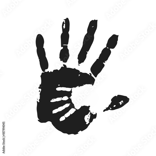 Fotografia, Obraz  handprint. vector illustration