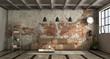 Leinwandbild Motiv Living room in industrial style