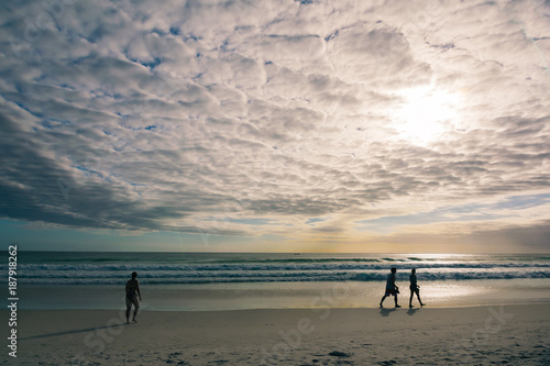 Foto op Aluminium Cathedral Cove Amazing sunset in a beach in Arraial do Cabo, Brazil. The beach's name is