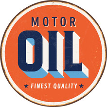Vintage Metal Sign - Motor Oil...