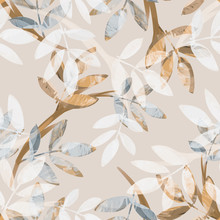 Leaves Seamless Pattern. Hand ...