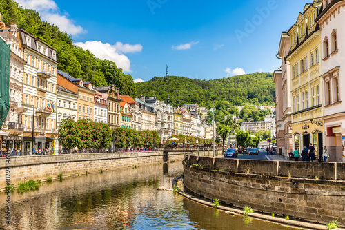 Photo  Karlovy Vary (Carlsbad) City Centre,Czech Republic