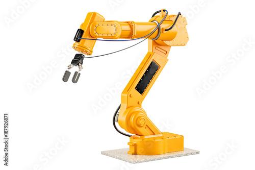 Foto  Robotic Arm, 3D rendering