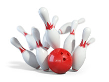 Red Ball Smashes The Bowling P...