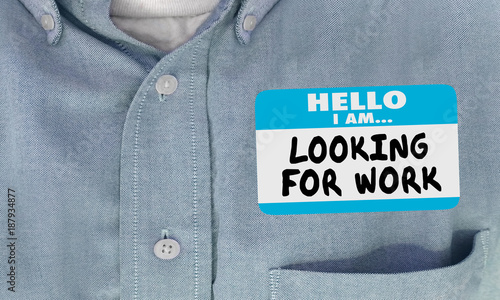 looking for work name tag hello sticker 3d illustration buy this