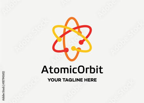 Fotografía  Atomic Orbit Logo Template Design Vector, Emblem, Design Concept, Creative Symbo