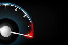Abstract Tachometer Technology Concept Background Vector Illustration.