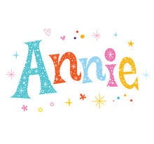 Annie - Girls Name Decorative ...
