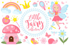 Little Fairy Set, Cartoon Styl...