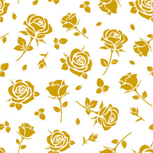 Seamless Pattern With Yellow R...