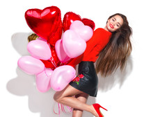 Valentine's Day. Beauty Girl W...