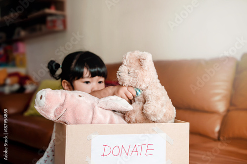 Fotografie, Obraz  Child with Donation Concept