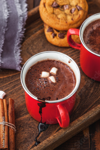 Poster Chocolade Homemade Hot Chocolate With Marshmallow