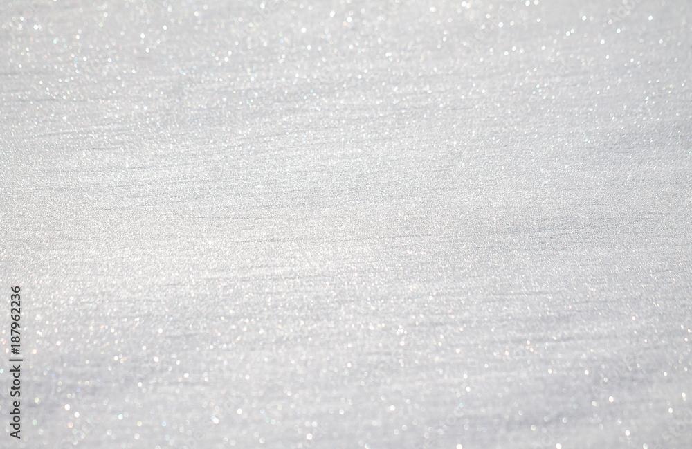 Fototapety, obrazy: White sparkling snow as background for design