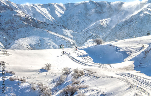 Foto op Aluminium Bergen Snow-capped mountains at the ski resort