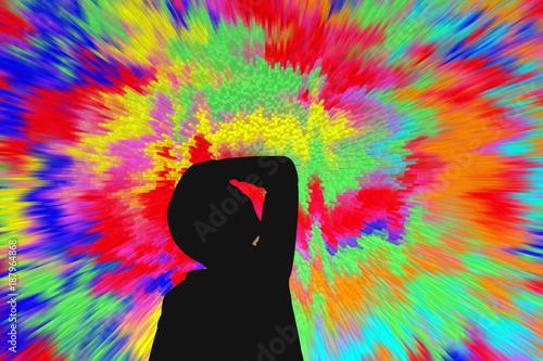 Vászonkép enfant en proie à des hallucinations