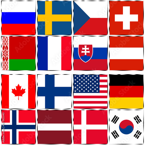 Photo  Country Flags Ice Hockey World Championship 2018