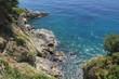 Rocks and golubaya transparent water, Dubrovnik Croatia