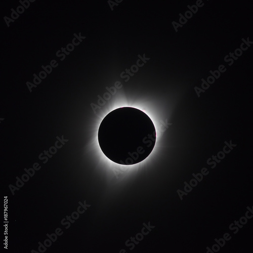 Inner corona during total solar eclipse of 2017