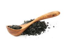 Pile Of Black Salt Crystals Is...
