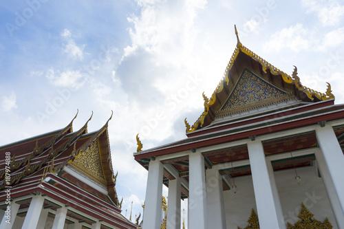 Keuken foto achterwand Temple Wat Ratchanatdaram Woravihara temple in Bangkok, Thailand