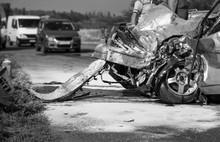 Damaged Vehicle Closeup After ...