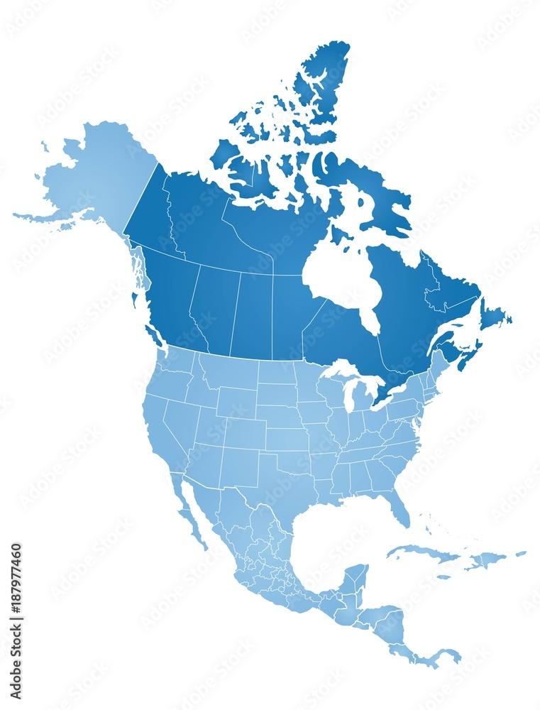 Map of North America Foto, Poster, Wandbilder bei EuroPosters