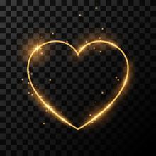 Golden Light Heart Frame
