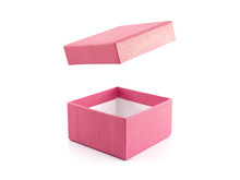 Open Empty Single Pink Gift Bo...