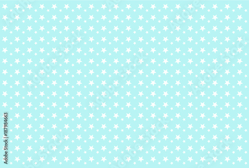 Seamless Boyish Pattern White Stars On Blue Background