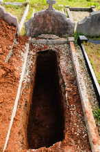 Open Grave, Freshly Dug And Awaiting Burial.