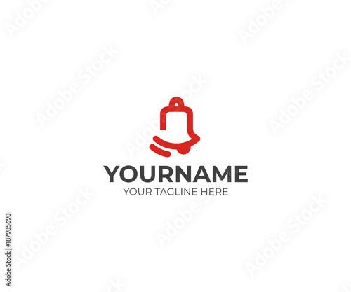 Cuadros en Lienzo Bell ring logo template