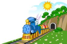 Easter Steam Locomotive Wagon ...