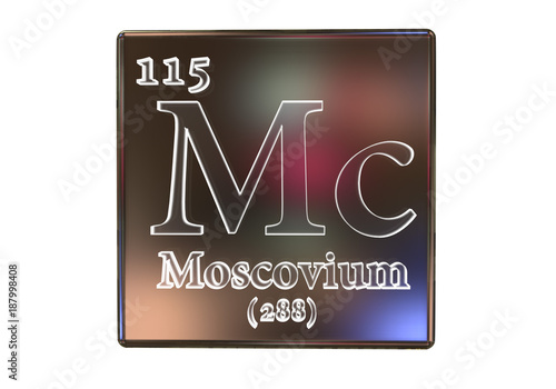 Fotografia  Moscovium, Mc, a recently discovered synthetic chemical element included into the periodic table in 2016