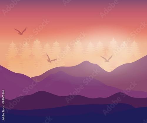 Fototapety, obrazy: realistic mountain landscape design
