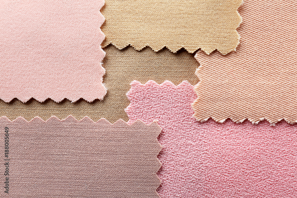 Fototapety, obrazy: Colorful fabric samples, closeup