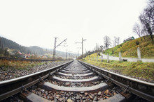 View Of Railway In Countryside
