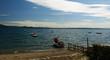 vista di un lago in estate