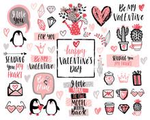 Valentine`s Day Lettering Desi...