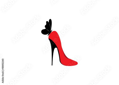 Logo shoe store, shop, fashion collection, boutique label Canvas-taulu